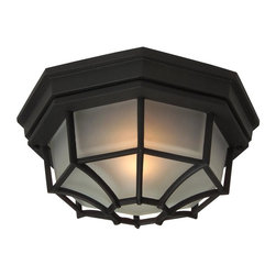 Craftmade - Energy Star Large Cast Ceiling Mount Outdoor - Bulb Type: A-Type. Max Watt: 1x100W. Glass Finish: Frosted. Height: 4.75 in.. Width: 10.6 in.. Type of Fixture: Large Flushmount. Top to Outlet: 5.3 in.