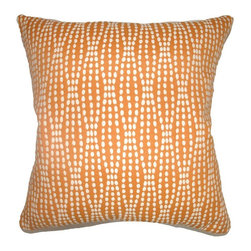 Pillow Collection - The Pillow Collection Udell Dot Pillow - Tangerine Multicolor - P18-D-36140-TANG - Shop for Pillows from Hayneedle.com! There's nothing spotty about the stylish looks of The Pillow Collection Udell Dot Pillow - Tangerine. Made of 70% cotton and 30% polyester this modern square pillow features a plush 95/5 feather/down insert for ultra softness. The cheery geometric print and gorgeous contrasting white and tangerine design add a vibrant touch to any room.About The Pillow CollectionIdentical twin brothers Adam and Kyle started The Pillow Collection with a simple objective. They wanted to create an extensive selection of beautiful and affordable throw pillows. Their father is a renowned interior designer and they developed a deep appreciation of style from him. They hand select all fabrics to find the perfect cottons linens damasks and silks in a variety of colors patterns and designs. Standard features include hidden full-length zippers and luxurious high polyester fiber or down blended inserts. At The Pillow Collection they know that a throw pillow makes a room.