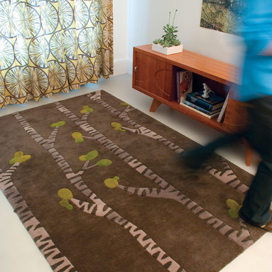Birch Study - A fresh and modern interpretation of a Birch forest. angela adams hand-tufted wool rugs are incredibly unique, textural and timeless. Made with 100% New Zealand wool. Multi-dimensional cut pile.