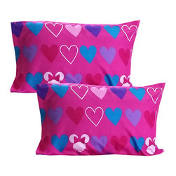 Store51 LLC - Minnie Mouse Pillowcase Set Disney Hearts Bow-tique Bedding - FEATURES: