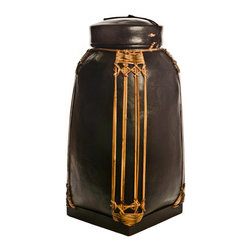 Foreign Affairs Home Decor - Decorative Bamboo Storage Containers NASI, Black, Large - These bamboo containers were used to store rice and other commodities. Now there are more sculpture than everyday objects but can be used safely to store everything from spices to laundry.