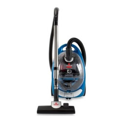 Bissell - BISSELL Opticlean Cyclonic Bagless Canister Vacuum - Vacuum provides cyclonic bagless cleaning that provides strong suction. With its variable power control feature you can adjust the power to clean draperies, upholstery, area rugs, bare floors and more.