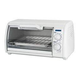 Black & Decker - Black & Decker White Classic Toast-R Oven - This versatile small toaster oven can toast,bake,broil and reheat within minutes. This small counter top oven features a clean white finish and a compact space saving design that will easily find its place in your kitchen.