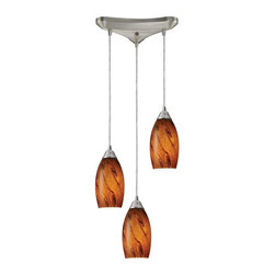 Elk Lighting - Elk Lighting 20001/3BG Galaxy Transitional Multi Light Mini Pendant Light - Elk Lighting 20001/3BG Galaxy Transitional Multi Light Mini Pendant Light in Nickel