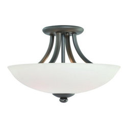 Dolan Designs - Dolan Designs 2905 3 Light Down Light Semi-Flush Ceiling Fixture from the Rainie - Dolan Designs 2905 Rainier 3 Light Down Light Semi-Flush Ceiling FixtureFeaturing simple modern swept arms, this 3 Light Semi-Flush Ceiling Fixture will fit any modern setting. With beautiful bowl shaped Satin White Glass Shades and a stylish finish, this piece will bring a touch of class to any room.With beautiful bowl shaped Satin White Glass Shades and a stylish finish, the Rainier collection, featuring simple modern swept arms, will bring a touch of class to any home.  Dolan Designs 2905 Features: