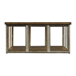 Stanley Furniture - European Farmhouse Art Industriel Conversation Table, Blond - This beautifully crafted European Farmhouse Art Industriel Conversation Table gives a glimpse of contemporary architectural design. This table is highly sturdy with iron base and is equally functional too.