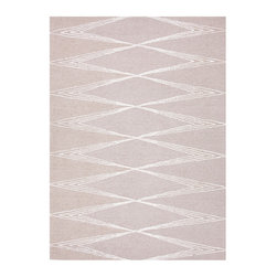 Foundations Chayse Dacoda Classic Gray Rug - 5' x 8' - Mixing the geometry of world patterning with the spare slenderness of transitional moods in a rug designed for easy care and durability, this Classic Gray rug from the Foundations Chayse Dacoda line depicts linear, eye-catching graphics in lines of art silk blended with hand-tufted wool. Its dimensional surface and deep pile offer restrained luxury along with low-key, precise designs.