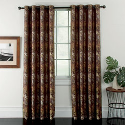 Window Accents - Window Accents Ganset Leaf Jacquard Grommet Panel Pair - 29-41366CHO - Shop for Curtains and Drapes from Hayneedle.com! With its array of woven leaves and inlaid patterns the Window Accents Ganset Leaf Jacquard Grommet Panel Pair is both classic and transitional. Perfect for almost any room in the home this set includes two window panels to frame your space. The polyester fabric is woven to help filter outside light. These panels feature a grommet design for a modern look that hangs easily from a decorative rod. These window panels are machine-washable and come in your choice of sophisticated color.About Arlee Home FashionsArlee Home Fashions Inc. manufactures and markets household textiles like decorative pillows chair pads floor cushions curtains table linens and pet beds. The company was incorporated in 1976 and is based in New York New York.