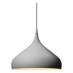 Spinning Lamp, Matte Gray, Large - With its elegant shape inspired by a spinning top, the lovely Spinning lamp by Benjamin Hubert is destined to become a design classic. It's perfect.