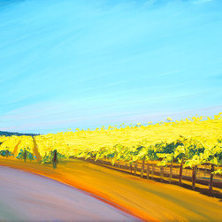 """Ann Rea - Bring home Dry Creek Valley with """"Vineyard Sky"""" by Ann Rea, oil painting - """"So much of what I look out at in the vineyard is at eye level but from this particular vantage point most of what I saw was the pure California sky."""" -Ann Rea"""