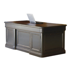 Hekman - Home Office Executive Desk - This is a beautiful piece of top-quality furniture that's perfect for your Man Cave, Game Room, Office or anywhere you would like to decorate and show your personal style.