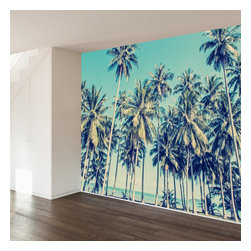 WallsNeedLove - Tahitian Treat Wall Mural Decal - Home may be where the heart is, but adventure is where the soul lies. Bring heart and soul together with this beautiful landscape art print. Make any room into your own personal paradise with this Polynesian-inspired wall mural decal.