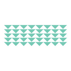 Dana Decals - Triangle Pattern Wall Decal - Ideal for homes, kids rooms, and schools.