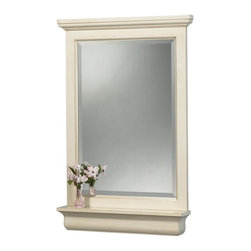 Pegasus - Cottage 24 in. Mirror - CTAM2432 (Small) - Choose Size: SmallManufacturer SKU: CTAM2432. Shelf and hardware not included. Rectangular shape. 4 in. frame thickness. Premium antique white finish. Small: 23.5 in. W x 32 in. H (23.45 lbs.). Large: 28 in. W x 38 in. H (30 lbs.)