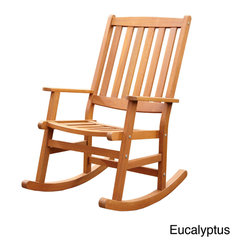 None - Bali Hai Outdoor Rocking Chair - This Bali Hai Outdoor Rocking Chair by Home Styles creates an island oasis on your porch or patio. This chair showcases a variety of different finishes and is constructed of eco-friendly shorea wood.