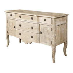 EuroLux Home - New Brushed Oak Sideboard Solid White Oak - Product Details