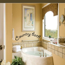 Country bath Vinyl Wall Decal bathroomquotes11, Light Pink, 72 in. - Vinyl Wall Quotes are an awesome way to bring a room to life!