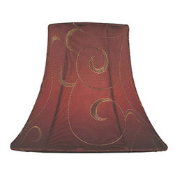 Lite Source - Candelabra Shade/Red Jacquard - 3in.Tx6in.Bx5in.Sl - Candelabra Shade/Red Jacquard - 3 in. Tx6 in. Bx5 in. Sl