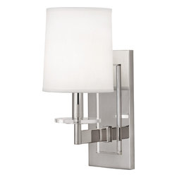 Robert Abbey - Alice Wall Sconce, Nickel - -1-60W Max.