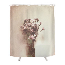 Vintage Flowers Shower Curtain - A stunning bundle of pink carnations against faded sepia gives this shower curtain character where others fall flat. If you're a flower lover, the Vintage Flowers Shower Curtain is exactly what you're looking for.