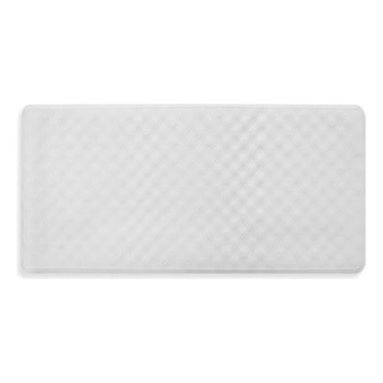 Ginsey - Ginsey Rubber Bath Mat - This eco-friendly tub mat is made of natural fiber. It stays in place with slip-resistant suction cups, and has anti-mildew protection for you and your family.