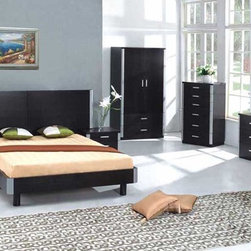 Unique Wood Designer Bedroom Furniture Sets - Napoli modern european style bedroom set (full/queen/king). The Napoli Bedroom presents in Silver and Ash wood Matte finish with Two 3 Drawer Nightstands, elegant Dresser and Mirror.