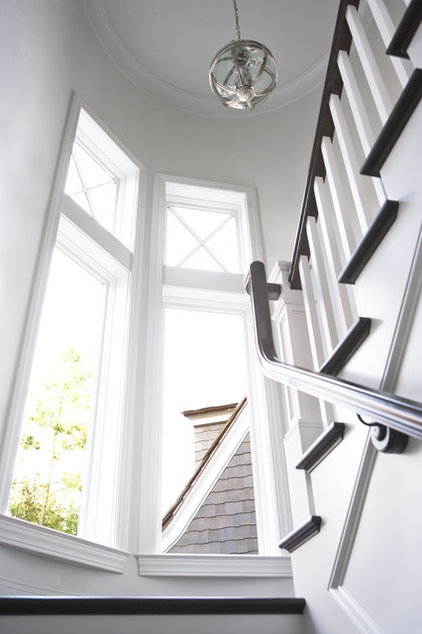 Traditional Staircase by Linda McDougald Design | Postcard from Paris Home