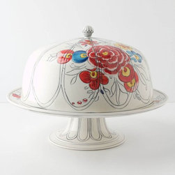 Peony Portrait Domed Cake Stand - I'm a firm believer that you can't have too many cake stands, especially if they look like this.
