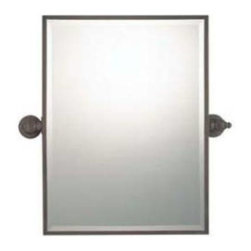 """Minka Lavery - Minka Lavery 1442-267 36"""" Rectangle Mirror in Dark Brushed Bronze 1442-267 - 22-1 2""""W Max. Adjustable tensioning pivots Includes ecutcheon covers over screw heads Fully welded corners Beveled glassEnergy Star Compliant: No Extension: 3-1 4 Finish: Dark Brushed Bronze Height: 36 Rooms: Bathroom, Bedroom, Dining Room, Family Room, Foyer, Living Room, Office Style: Traditional Type: Framed Width: 18"""
