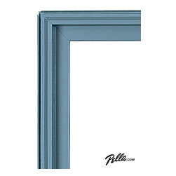 EnduraClad® Exterior Finish in Stormy Blue - Available on Pella Architect Series® and Designer Series® wood windows and patio doors, EnduraClad exterior finishes offer 27 standard and virtually unlimited custom color options.