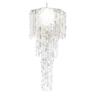 ecofirstart - Rhapsody Chandelier - Forget about the 99 bottles of beer on the wall — this ecofriendly chandelier puts over 799 bottles on the ceiling! Each is manipulated to resemble a glass crystal in shape and feel, allowing you to see them in a whole new light. A great conversation piece, it looks absolutely gorgeous in your grand dining room or foyer.