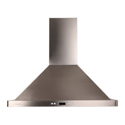 "Cavaliere - Cavaliere 198B2 30 Island Mount Range Hood - Mounting version -Island Mounted   600 CFM centrifugal blower   Three-speed electronic, touch sensitive control panel with LCD display   Delayed power auto shut off (programmable 1-15 minutes)   30 hours cleaning reminder   2 Touch Sensitive Control Panels   Four dimmable 25W halogen lights (GU-10 type light bulbs)   Aluminum 6 layers micro-cell washable grease filters (dishwasher-friendly)   Heavy duty 22 gauge stainless steel (brushed finish)   Telescopic decorative chimney of variable dimension   6"" round duct vent exhaust and back draft damper   Full stainless steel construction   Venting Mode: Duct (optional re-circulating kit available for ductless)   One-year limited factory warranty"