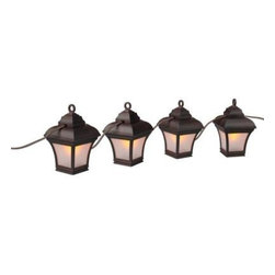 Hampton Bay - Hampton Bay Patio Furniture, Altina String Lanterns HB1004BZ - Shop for Outdoor Patio Furniture at The Home Depot. The Hampton Bay Altina String Lanterns can be used to add a little extra light to your home's outdoor patio or inside of your home. The lantern's warm glow creates a relaxed atmosphere. Made of lightweight plastic these lights are easy to string and hang around your patio's dining area. When the string lanterns aren't in use you can easily store them.