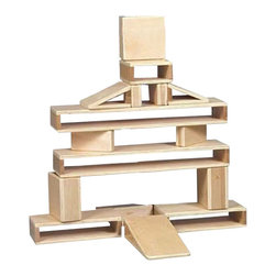 Guidecraft - Guidecraft Mini Hollow Blocks (Set of 16) - Guidecraft - Activity Sets - G97079 - 16 piece set Mini Hollow Blocks are sized to standard unit-block construction. Beautifully constructed with birch plywood and solids. No exposed screws or hardware. UV coating. Edges are rounded and surfaces are sanded smooth for safety and hours of creative play. Blocks are sealed and finished with a UV coating. For indoor use only. Ages 3+
