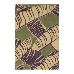 Chandra Rugs - Hand-Tufted Designer Wool Rug ALF2100 - 7'9 x 10'6 - Hand-tufted Designer Wool Rug - ALF2100 - 7'9 x 10'6