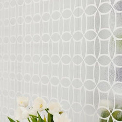 geomtric flock foil wallpaper - Oh silver glam, you're not for everyone, but wow are you fabulous! You're at once a throwback and the future, and I love you.