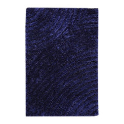 """MA Trading - Contemporary Clarice 7'10""""x9'10"""" Rectangle Blue Area Rug - The Clarice area rug Collection offers an affordable assortment of Contemporary stylings. Clarice features a blend of natural Blue color. Handmade of 100% Polyester the Clarice Collection is an intriguing compliment to any decor."""
