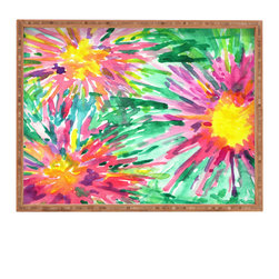 DENY Designs - Joy Laforme Floral Confetti Rectangular Tray - With DENY's multifunctional rectangular tray collection, you can use it for decoration in just about any room of the house or go the traditional route to serve cocktails. Either way, you��_��__ll be the ever so stylish hostess with the mostess!