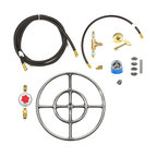 Easy Fire Pits - DIY 12″ Fire Pit Kit - Complete Deluxe Kit w/ Key Valve Control & All - FR12CK+  Complete Deluxe Do It Yourself (DIY) 12″ Double Ring Fire Ring Fire Table/ Fie Pit Kit (Complete from LP Tank Connection to Hoses to Key Valve Operation to Burner).