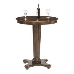 Hillsdale - Hillsdale Ambassador Round Bar Height Pub Table in Rich Cherry - Hillsdale - Pub Tables - 6124PTB - The Hillsdale Ambassador Pub Table features a rich cherry finish round wood top and a pedestal base. Combine it with the Ambassador Bar Stools for a complete set. With unique transitional design elements the Ambassador Pub Table will offer a lasting appeal you will enjoy for many years.