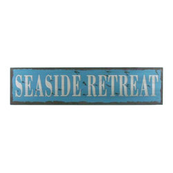 "Handcrafted Model Ships - Wooden Seaside Retreat Beach Life Sign 24"" Beach Bedroom Decorating Ideas - New - Immerse yourself in the warm ambiance of the beach, imagining golden sands between your toes as you listen to the gentle sound of the surf, while you enjoy Handcrafted Nautical Decor's fabulous Beach Signs. Perfect for welcoming friends and family, or to advertise a festive party at your beach house, bar, or restaurant, this Wooden Seaside Retreat Beach Life Sign 24"" sign will brighten your life. Place this beach sign up wherever you may choose, and enjoy its wonderful style and the delightful beach atmosphere it brings."