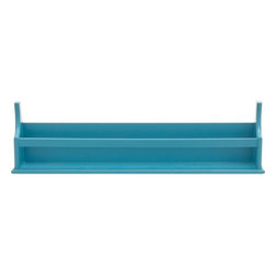 Benzara - Wood Wall Shelf in Smooth Blue Finish and Minimalistic Design - Give your room settings a refined touch with this charmingly designed Wood Wall Shelf. The minimalistic design of this wall shelf has a versatile appeal and can be easily incorporated in modern as well as conventional room setups. Designed from top quality solid wood, this wall shelf is resistant to easy wear and ensures lasting, hassle-free performance for years. This is a perfect gifting option too. The robust construction of this shelf allows you to easily store books, magazines and other essentials or display decor accessories in a stylish, clutter free manner. This wall shelf is adorned with a smooth, blue finish that elevates the aesthetic appeal of the design by several notches. Designed from high grade wood, this wall shelf is a wonderful combination of durability and finesse and is punctuated with neat, smooth lines.
