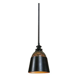 Uttermost Madera Oil Rubbed Bronze Mini Pendant - Dark oil rubbed bronze finish accented with curved marble. Due to the nature of real marble each piece will vary in color tone. Dark oil rubbed bronze finish accented with curved marble. Due to the nature of real marble each piece will vary in color tone.