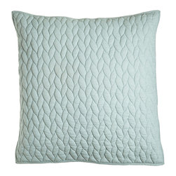 Horchow - Quilted European Sham - MEADOW (LT GREEN) (26x26) - Quilted European Sham