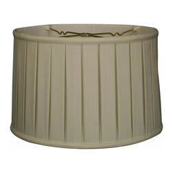 """Royal Designs, Inc"" - ""Shallow Drum English Box Pleat Basic Lampshade - White 17 x 18 x 11.5, 6-way"" - ""This Shallow Drum English Box Pleat Basic Lampshade is a part of Royal Designs, Inc. Timeless Basic Shade Collection and is perfect for anyone who is looking for a traditional yet stunning lampshade. Royal Designs has been in the lampshade business since 1993 with their multiple shade lines that exemplify handcrafted quality and value.