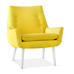Mrs. Godfrey Chair, Stockholm Canary - A touch of retro and a pop of canary yellow would brighten a simple, neutral decor.