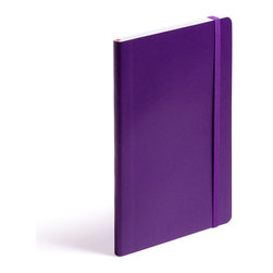 Color Bridge - Soft Cover Notebook, Purple, Medium - Make a list, check it twice, this little notebook will make you look oh-so-nice.Ships in: 1-2 business days