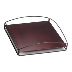 Howard Elliott - No Tip Block Tray Mahogany - Place the steel tray on top of your Block to make it a table; put it on the bottom for a decorative base; or place it between two or more Blocks to secure them in a stack. You can even use it on its own as a serving tray.
