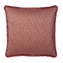 Sweet Dreams Ruffled Leopard European Sham