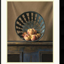 Amanti Art - White peaches Framed Print by Ken Marlow - Award winning American artist Ken Marlow has a gift for capturing natural light and subtle details. This timeless piece will add the element of rustic charm to your decor.